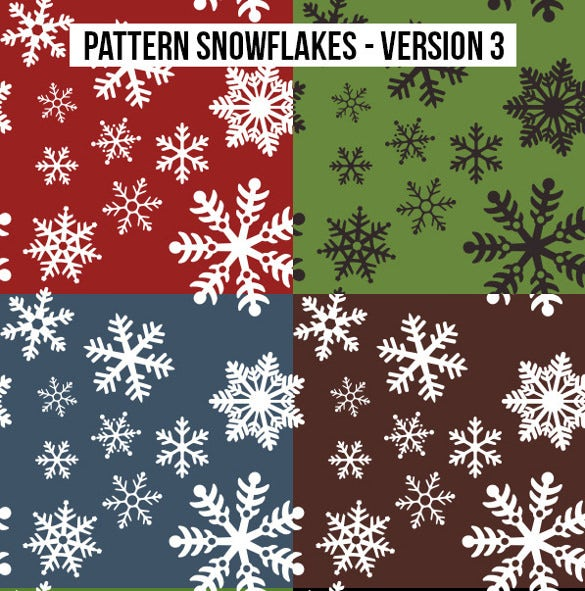 colorful snowflake pattern
