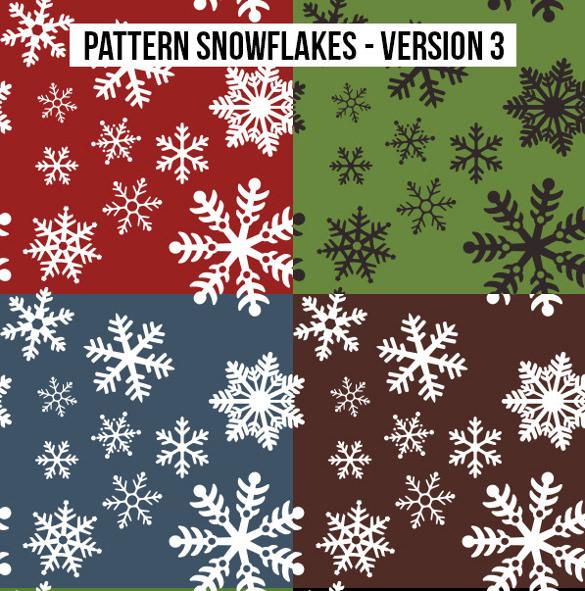 colorful snowflake pattern