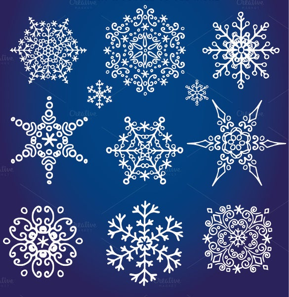 decor snowflake pattern