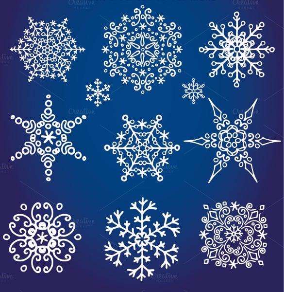 decor snowflake pattern