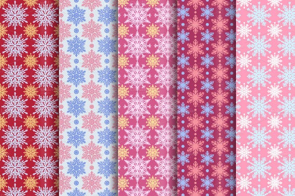collection of snowflake pattern