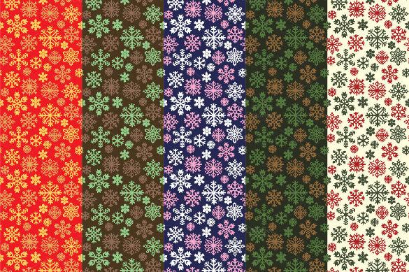 snowflakes pattern set