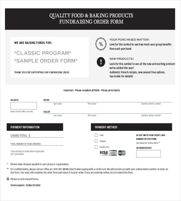 11+ Order Form Templates – Free Sample, Example, Format Download