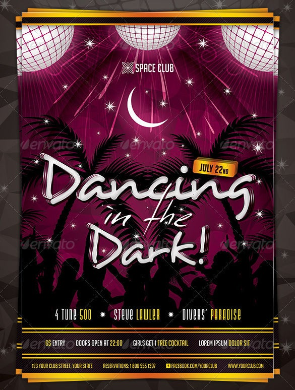 dancing in the dark poster photoshop psd download