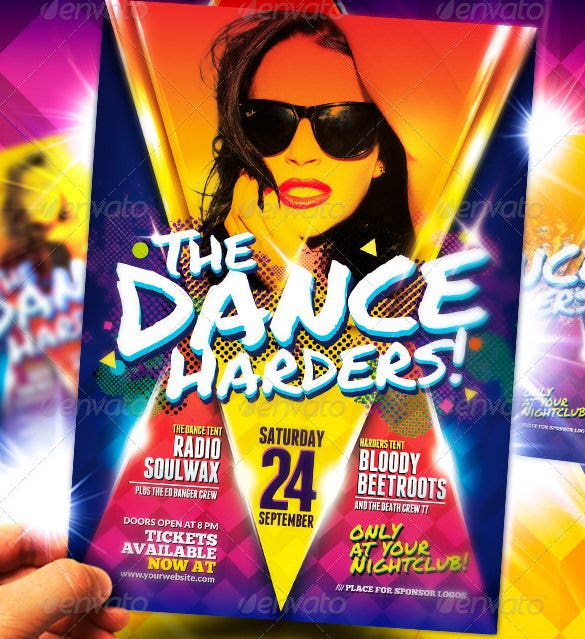 club night party dance poster template premium download