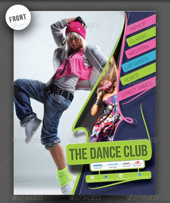 dance academy flyer poster template psd download