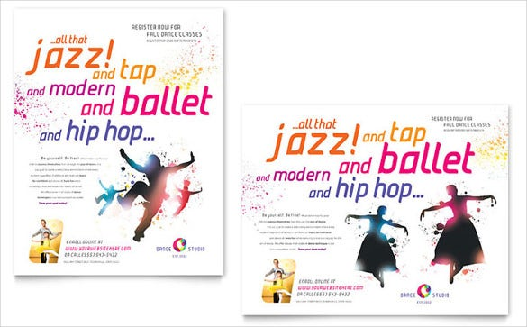 dance studio poster template adobe indesign format