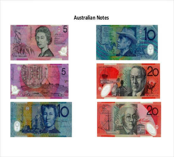 sample australian notes
