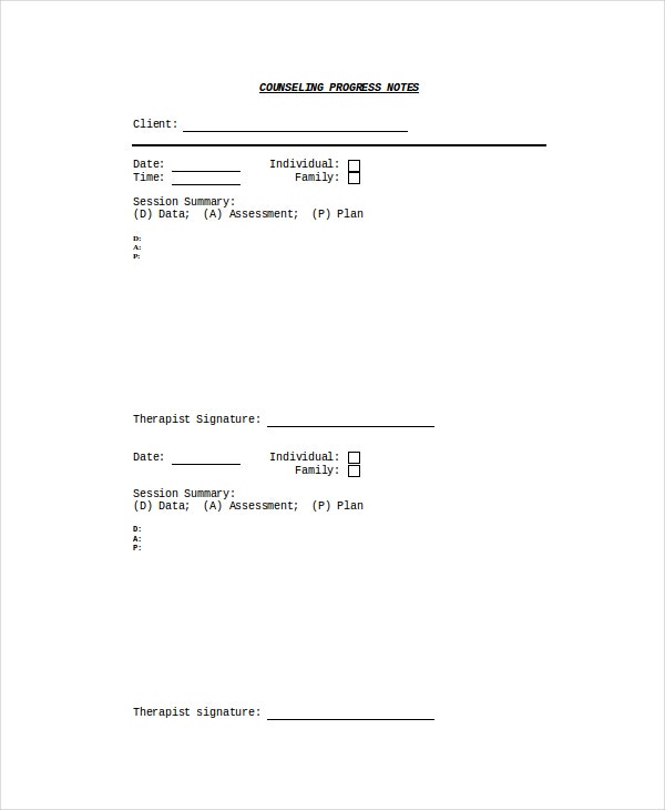Progress Note Template - 9+ Free Word, Pdf Documents Download