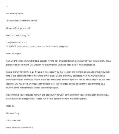 Letter Of Recommendation For Paraprofessional Template Basic Letter