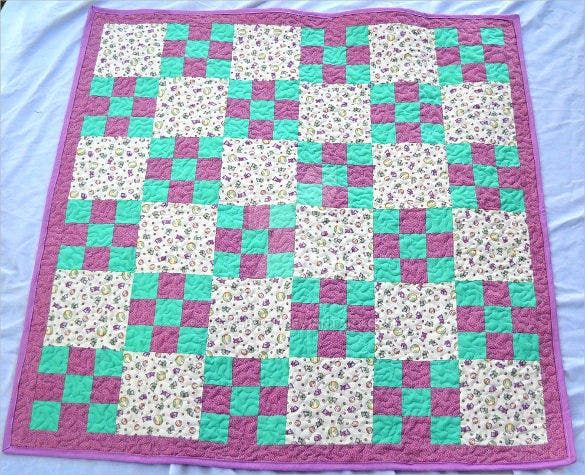 fabric baby quilt pattern download