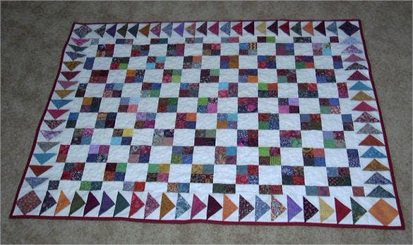 4 patch baby quilt pattern download