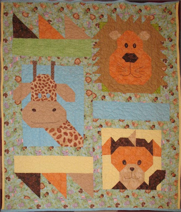 jungle baby quilt pattern download