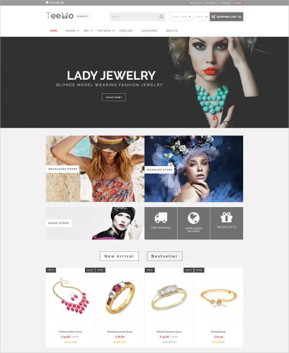 multipurpose responsive jewelry prestashop theme