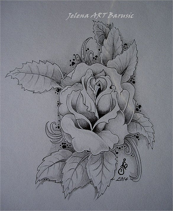 combination of black ink and graphite pencil drawing