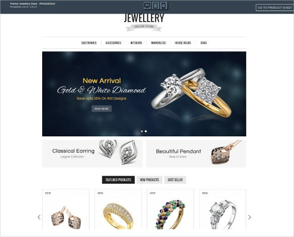 beautiful jewelry prestashop theme