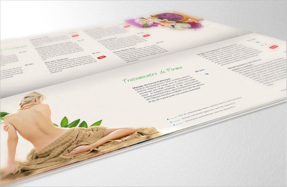 spa menu palenque template sample download