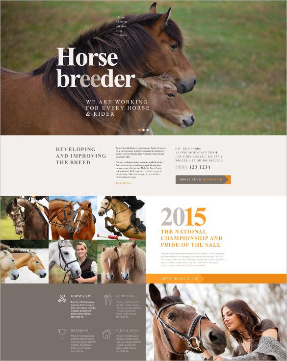 animal breeder wordpress theme