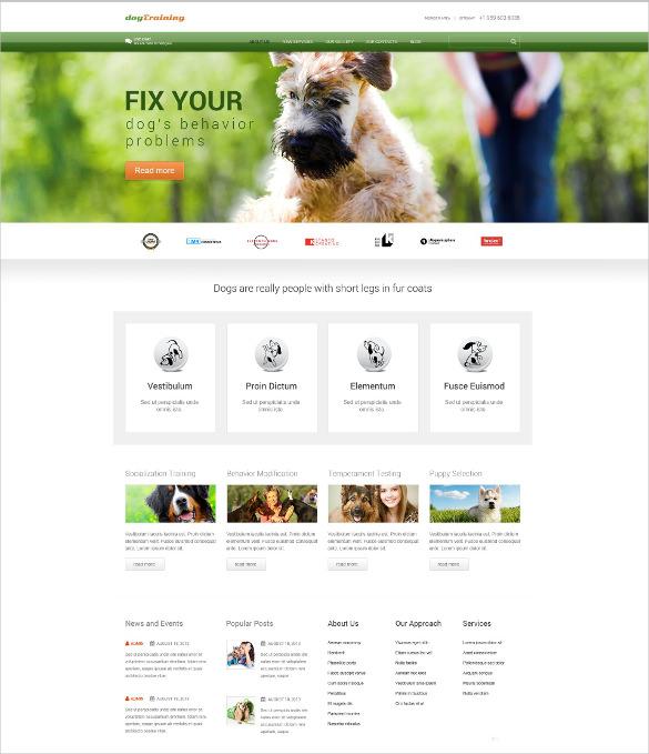 pet dog responsive wordpress theme