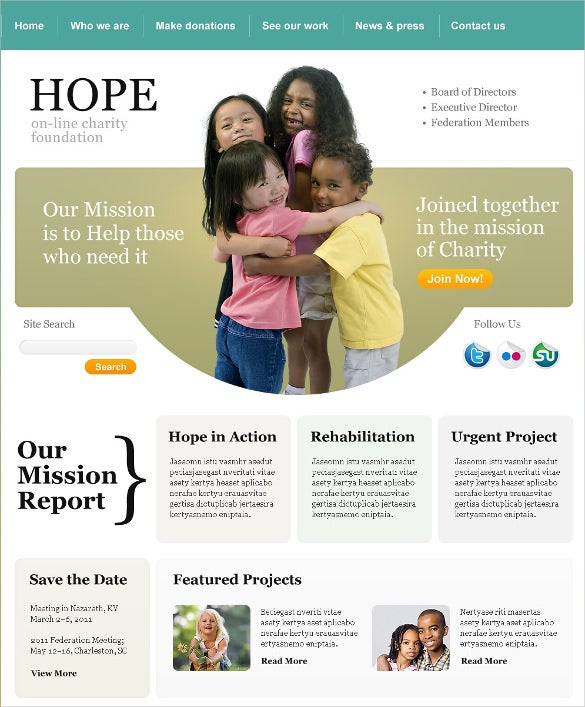 child charity psd template 11