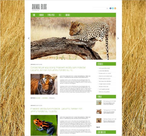 wild life pet animal responsive wordpress theme