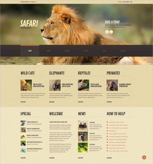 pet animal wild life responsive wordpress theme