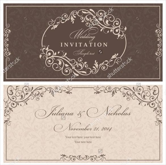 Wedding invitation template 71 free printable word pdf psd indesign format download for Indesign wedding program template