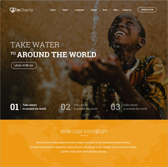 charity fundraising non profit psd template 12