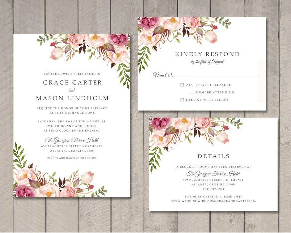 wedding invitations templates download