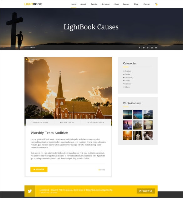 christian non profit church psd template 12