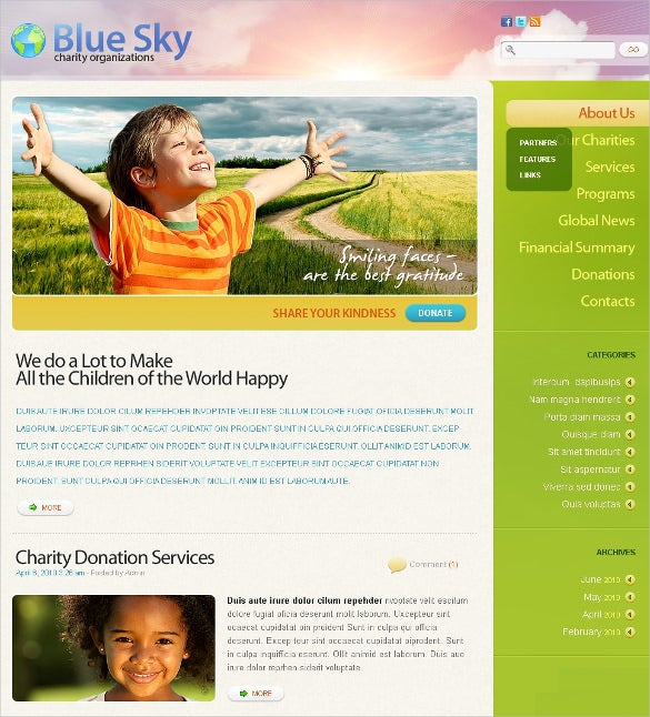 charity psd non profit template 11