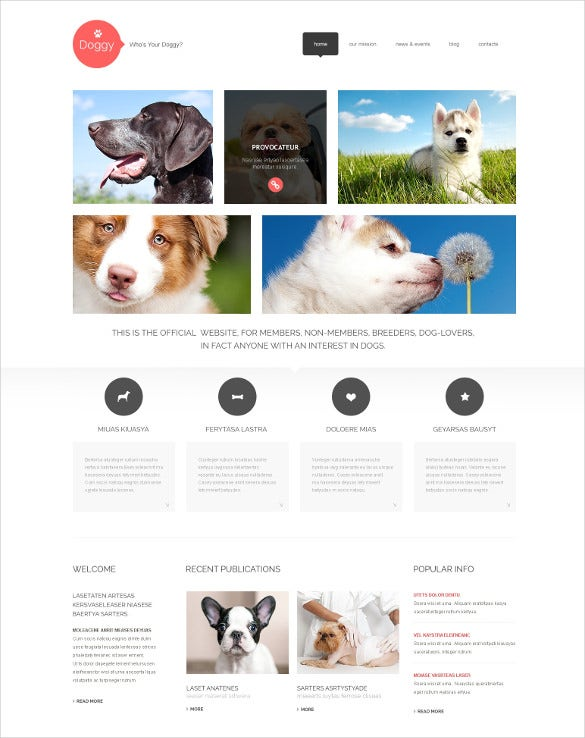 responsive animal pet wordpress theme