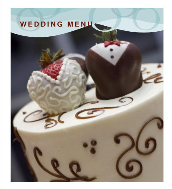 print ready wedding menu template free download