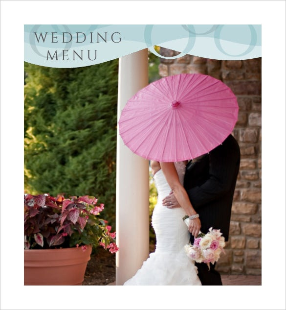 complete wedding menu template for free download1