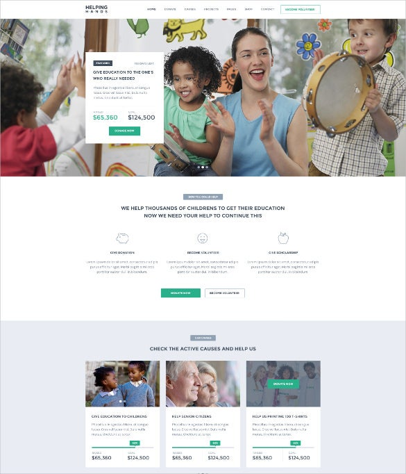 heping hands nonprofit charity psd theme 12