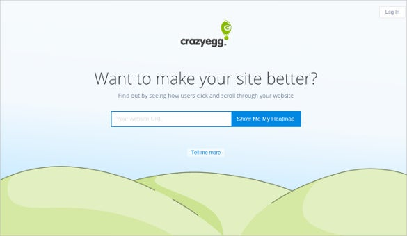 crazy egg tool to track your visitors