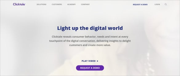 clicktale qualitative customer web analysis