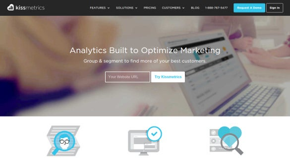 kissmetrics analytics built to optimize marketing