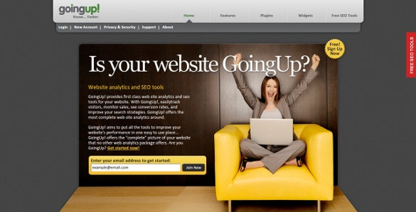 goingup free web tracker tool