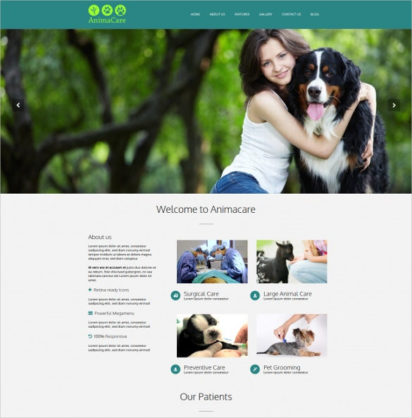 animal pet care services wordpress theme