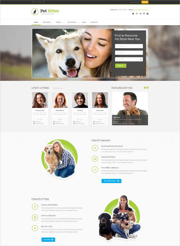 animal pet job board responsive wordpress theme