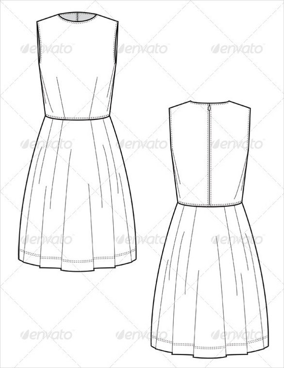 knee length dress full skirt pattern