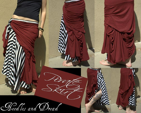 pirate skirt pattern