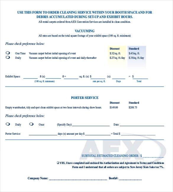 Sample Service Forms. Service Maintenance Agreement For Hvac Service ...