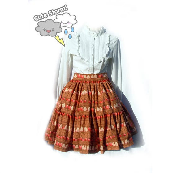 chocolate border skirt pattern
