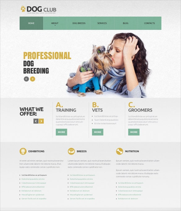 responsive pet animal joomla template