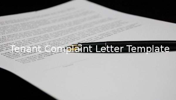 tenantcomplaintletter