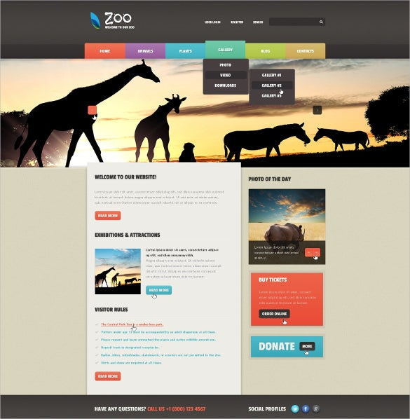animal pet zoo joomla template