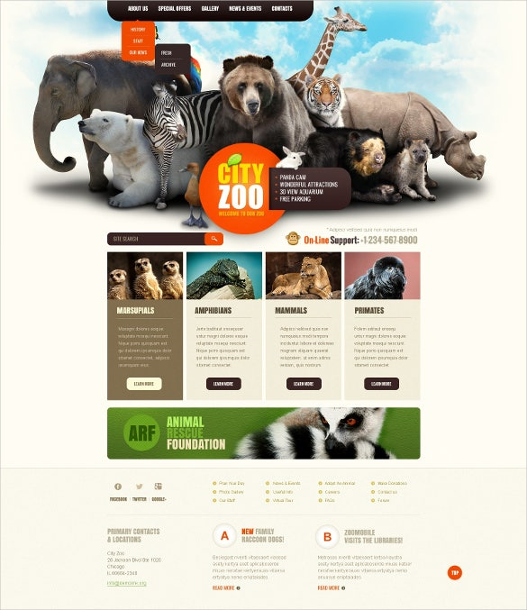 zoo animal pet joomla template