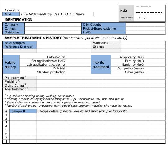 customer service form template